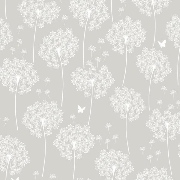 NuWallpaper Grey Dandelion Peel and Stick Wallpaper NU1651