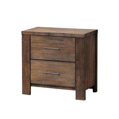 Morgan 2-Drawer Oak Nightstand