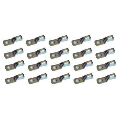 4-Gauge 3/8 Tinned Marine Copper Battery Cable Lugs (20-Pack)