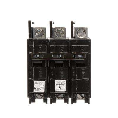 100 Amp 3-Pole BQ 10 kA Lug-In/Lug-Out Circuit Breaker with Side Lugs