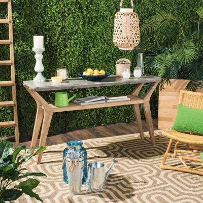 Babette Dark Gray Stone Indoor/Outdoor Side Table