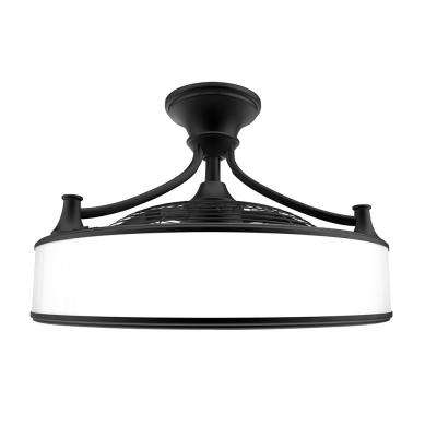 Anderson 22 in. LED Indoor/Outdoor Black Ceiling Fan with Remote Control
