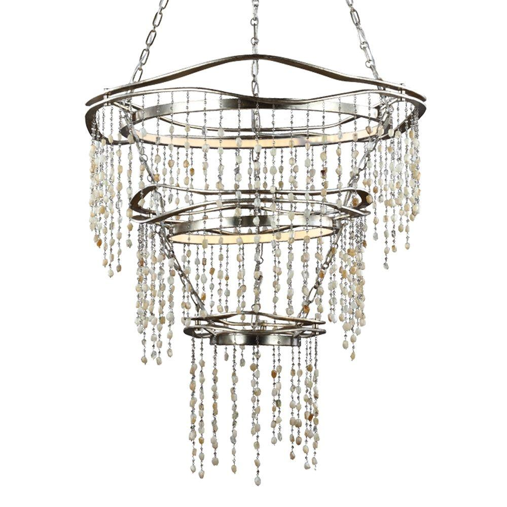 Feiss Stonesend Silver Leaf Antique Multi-Tier Chandelier was $2024.19 now $390.0 (81.0% off)