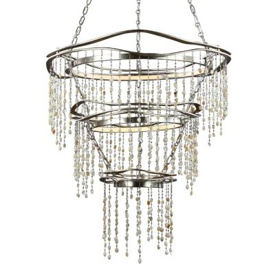 Stonesend Silver Leaf Antique Multi-Tier Chandelier