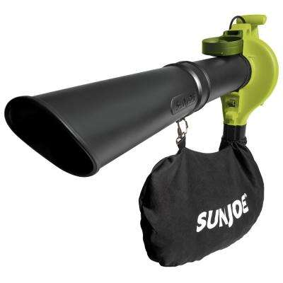 240 MPH 300 CFM 13 Amp Electric Handheld Blower, Vacuum and Mulcher in Green, Renewed