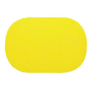 Kraftware Fishnet Oval Placemat in New Yellow (Set of 12) by Kraftware
