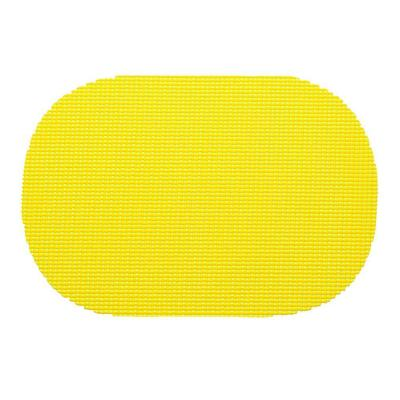 Fishnet Oval Placemat in Yellow (Set of 12)
