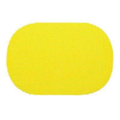 Fishnet Oval Placemat in New Yellow (Set of 12)