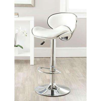 Shambi Adjustable Height Chrome Swivel Cushioned Bar Stool