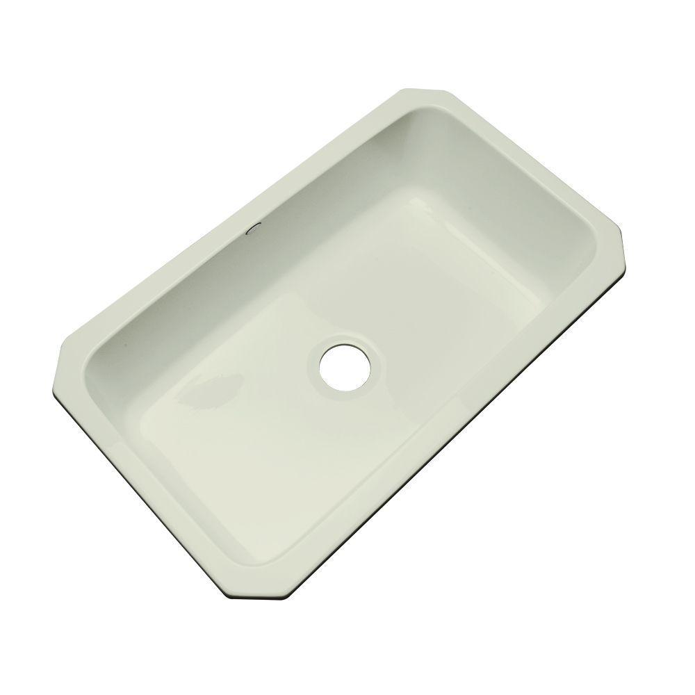 Manhattan Undermount Acrylic 33 in. Single Bowl Kitchen Sink in Jersey