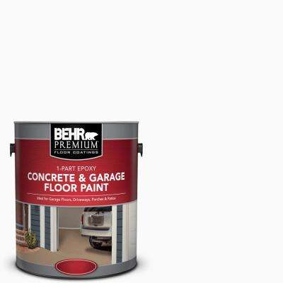 1 gal. White 1-Part Epoxy Satin Interior/Exterior Concrete and Garage Floor Paint