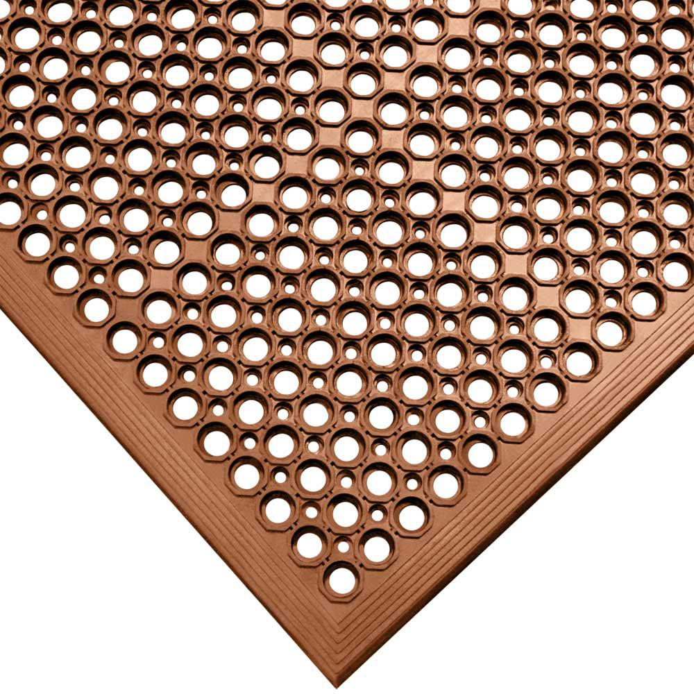 Rubber-Cal Dura-Chef Red 1/2 in. x 36 in. x 60 in. Rubber Comfort Mat