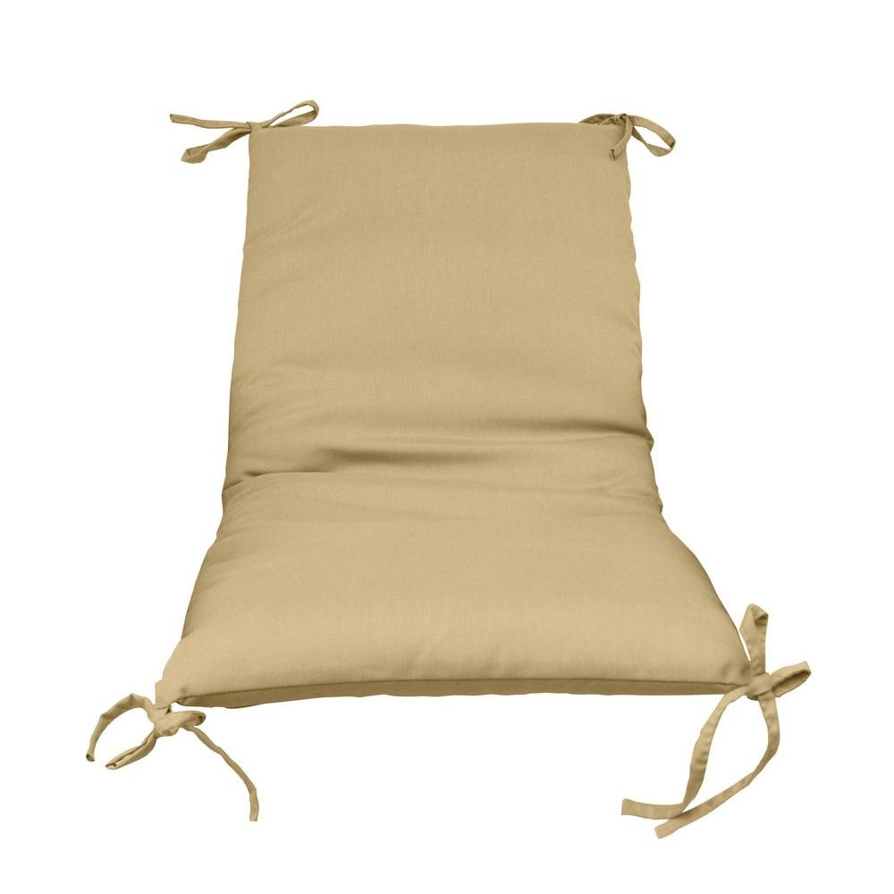 Sand Solid 1 Piece Outdoor Sling Chair Cushion 2 Pack