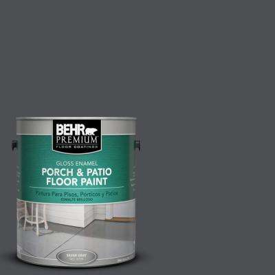 1 gal. #PPU18-1 Cracked Pepper Gloss Porch and Patio Floor Paint