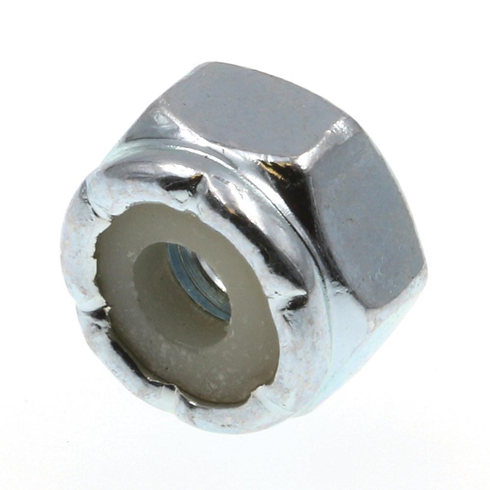#8-32 Grade 2 Zinc Plated Steel Nylon Insert Lock Nuts (50-Pack)