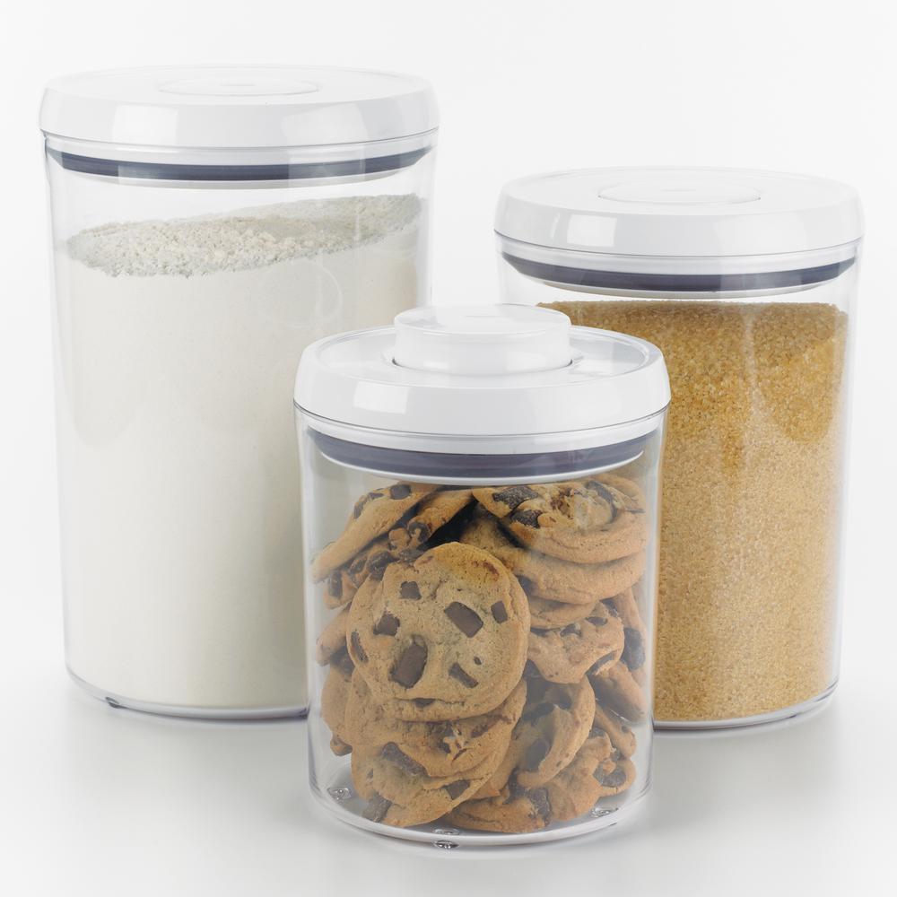 good grips 3piece round pop container set