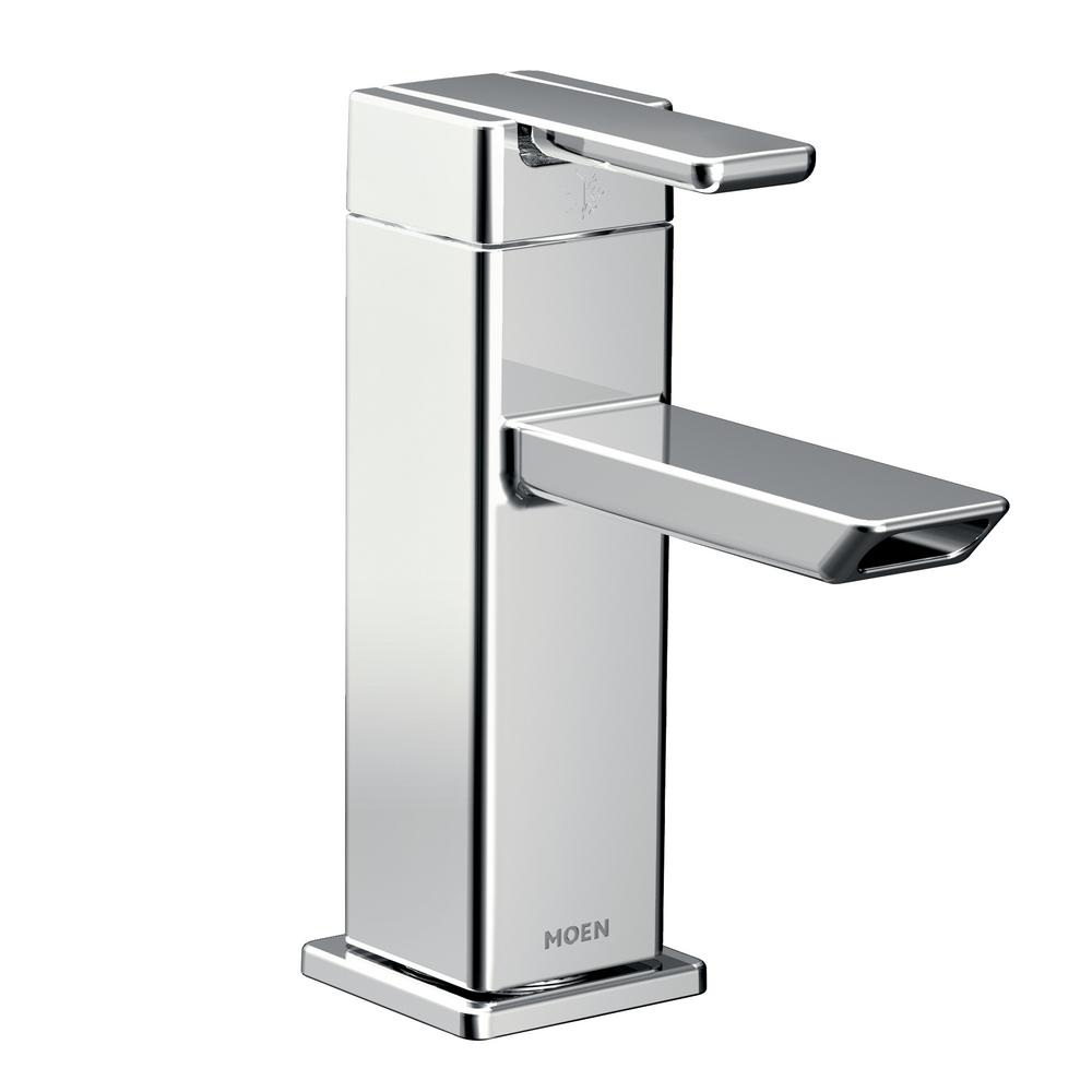 90-Degree Single Hole Single-Handle Eco-Performance Bathroom Faucet in Chrome