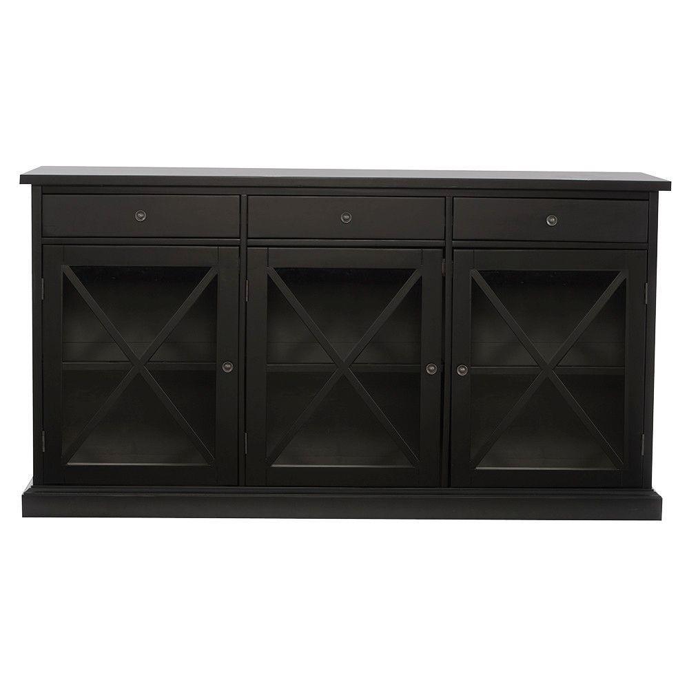 Home Decorators Collection Hampton Black Buffet SK17912AR2-WB