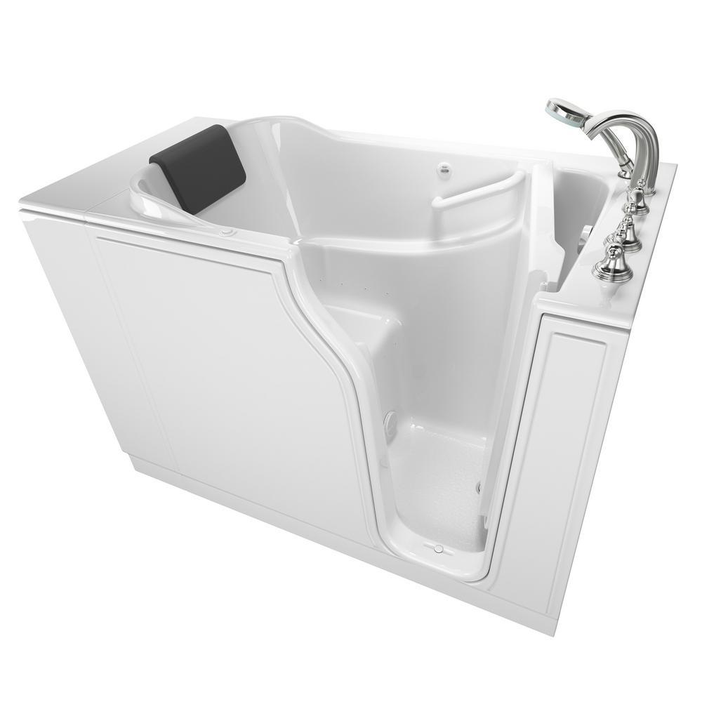 Gelcoat Premium Series 52 in. Right Hand Walk-In Air Bathtub in White