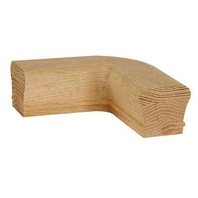 7211 Unfinished Red Oak 90 Degree Level Quarter Turn Hand Rail Fitting