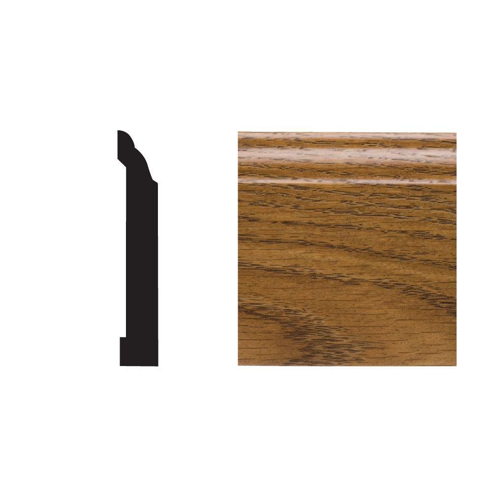 5523 29/64 in. x 3-1/4 in. x 8 ft. PVC Composite Base Highlands Oak Moulding
