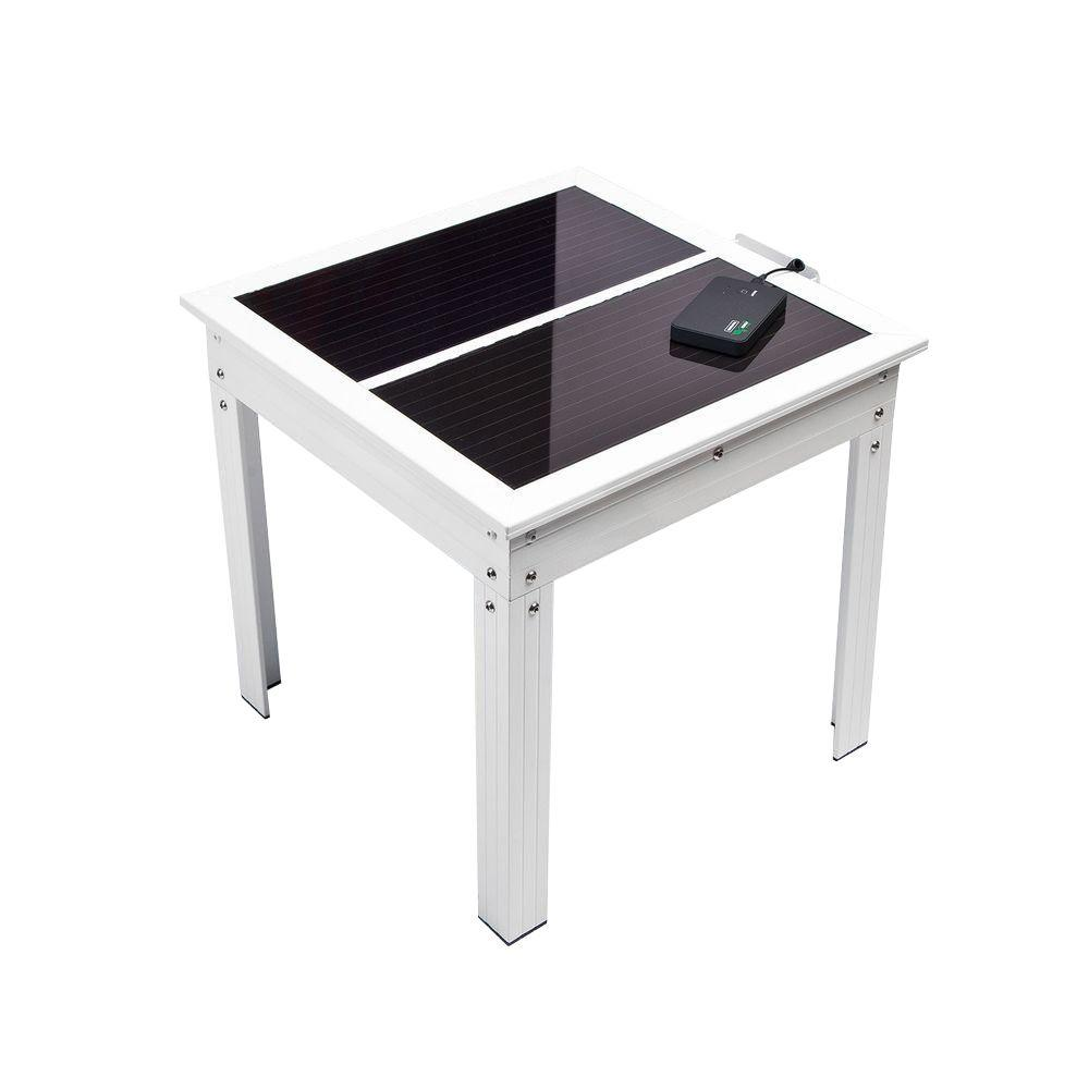 Savana Solar Powered Patio Table with Power Bank 5 for Ch...