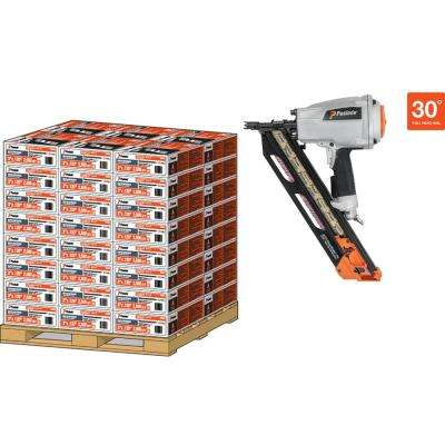 Pallet- 30D 2 in. x 113 Heavy Duty Galvanized Ring Shank Paper-Taped Framing Nails with PMPro Nailer