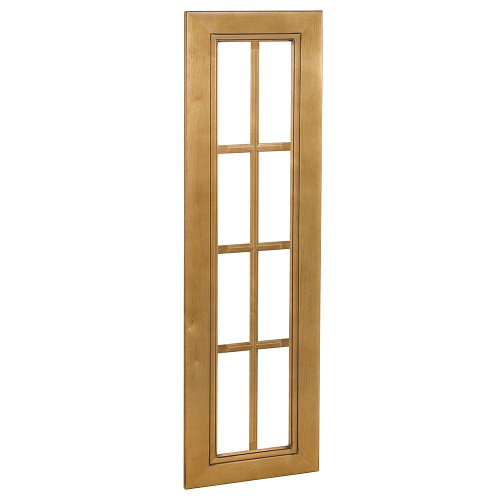 Home Decorators Collection Lewiston Assembled 18x36x0.75 in. Mullion Door in Toffee Glaze