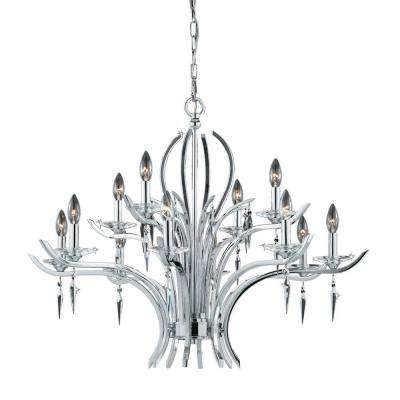 Candelariara 12-Light Polished Chrome Chandelier