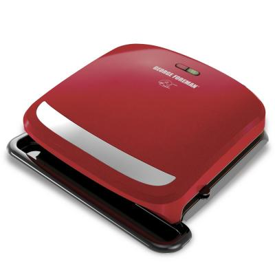 60 sq. in. Red Removable Plate Grill and Panini Press