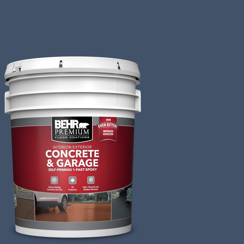5 gal. #PFC-60 Deep Galaxy 1-Part Epoxy Satin Interior/Exterior Concrete and Garage Floor Paint