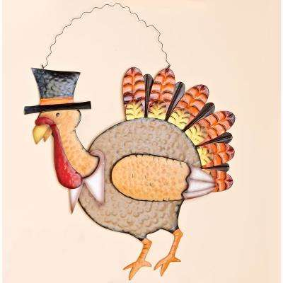 21 in. Metal Turkey Wall Hanging (Set of 2)