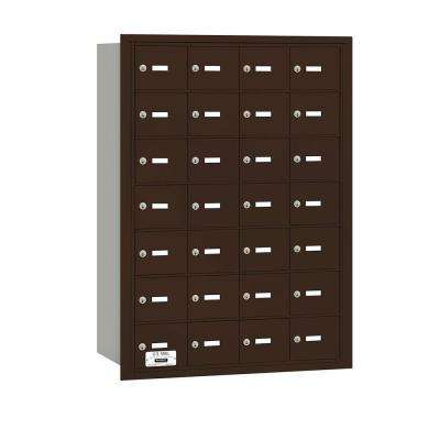 3600 Series Bronze Private Rear Loading 4B Plus Horizontal Mailbox with 28A Doors