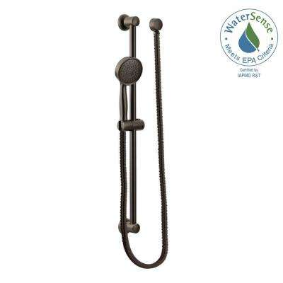 1-Spray Eco-Performance Handheld Handshower with Slidebar in Oil Rubbed Bronze