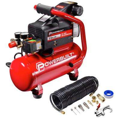 3 Gal. Portable Electric Air Compressor Kit