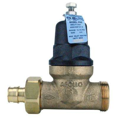 3/4 in. Bronze PEX-A Expansion Barb x 3/4 in. FIP Single Union Water Pressure Regulator