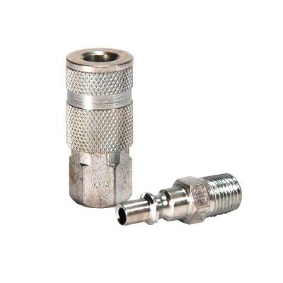 1/4 in. ARO Steel Coupler Set with Male Plug (2-Piece)
