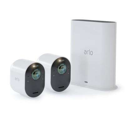 Ultra 4K Wire-Free Security 2 Camera System - White
