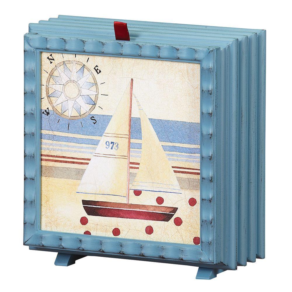 null 7 in. Debbie Taylor Kerman Fan-Nautical Sail
