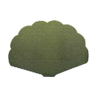 Kale Green Fishnet Shell Placemat (Set of 12)