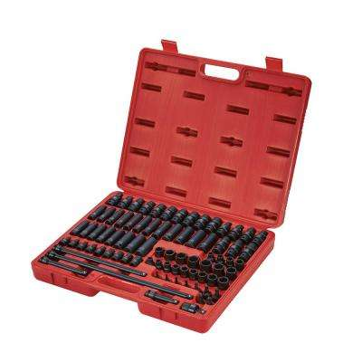 3/8 in. Drive Master Impact Socket Set (80-Piece)