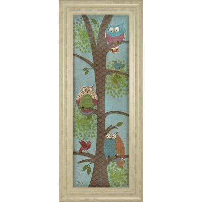 "18 in. x 42 in. ""Fantasy Owls Panel II"" by Paul Brent Framed Printed Wall Art"