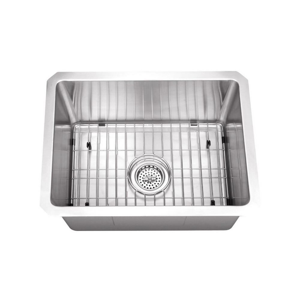 Cahaba Undermount Stainless Steel 20 in. Zero Radius Corner Small Single  Bowl Bar/Prep Kitchen Sink