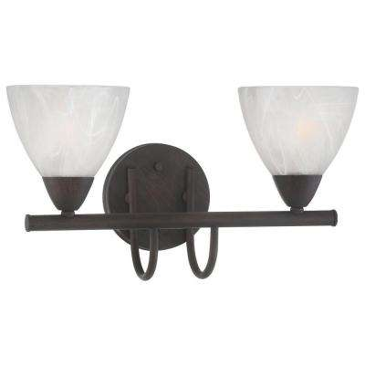 Tia 2-Light Painted Bronze Bath Fixture