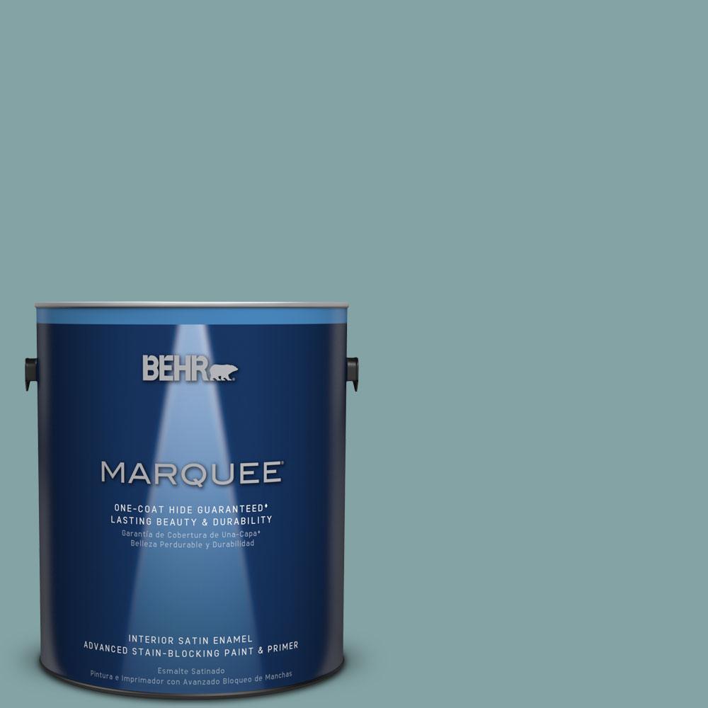 1 gal. #MQ6-7 Schooner One-Coat Hide Satin Enamel Interior Paint