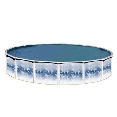 Yorkshire 24 ft. x 48 in. Round Above Ground Pool Kit