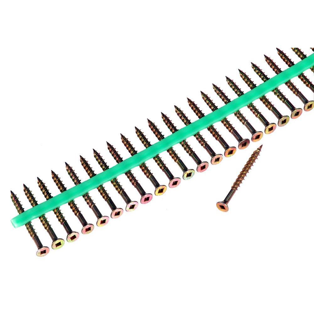 MURO #8 2 in. Internal Square Flat-Head Wood Screws (1800-Pack)