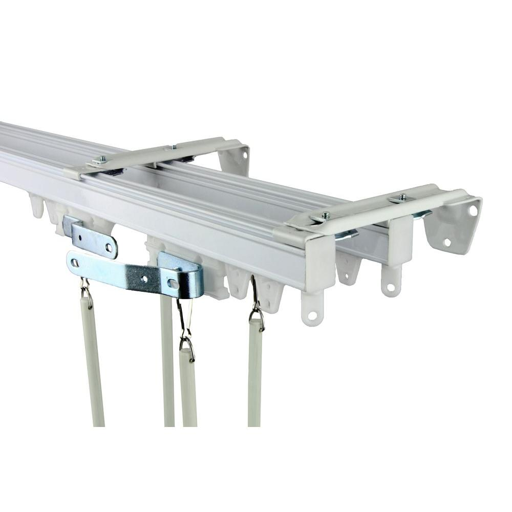Rod Desyne 120 In Commercial Wall Ceiling Double Track Kit