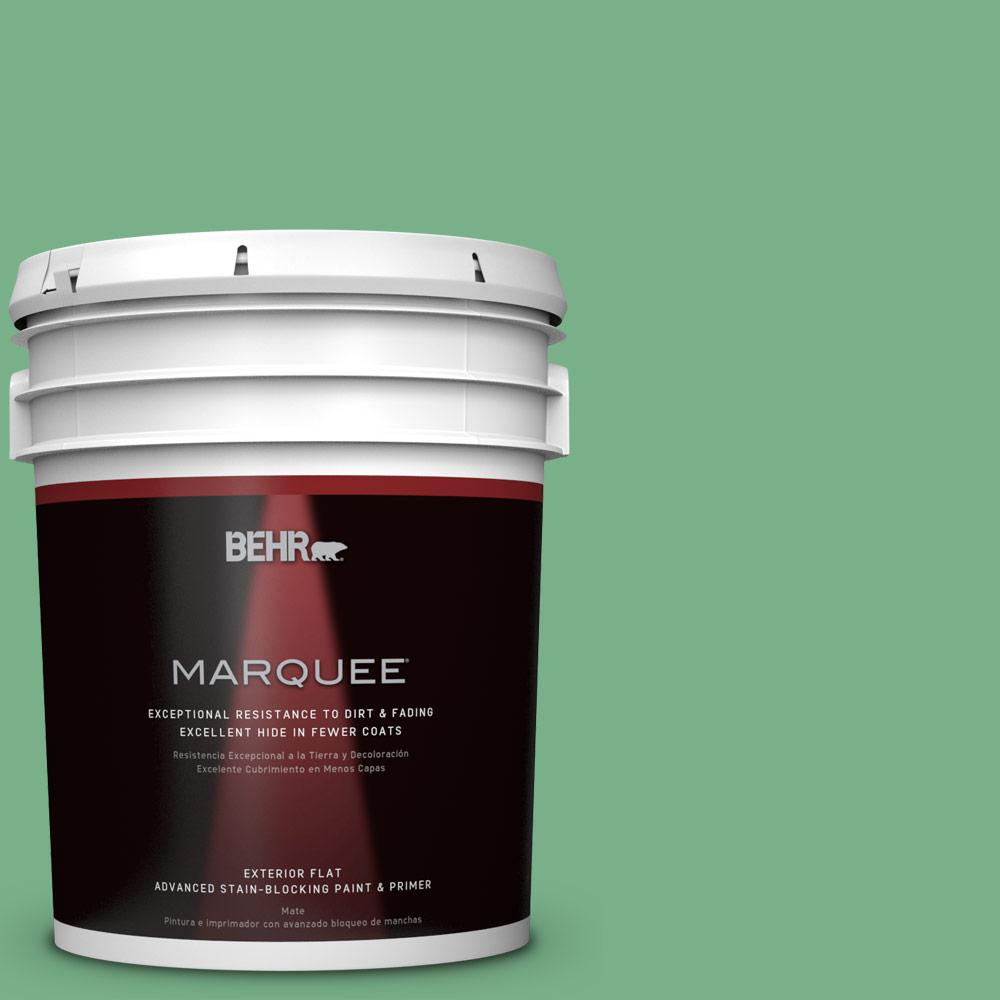 5-gal. #M410-5 Green Bank Flat Exterior Paint