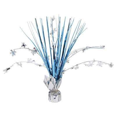 12 in. Snowflake Foil Spray Centerpiece (7-Pack)
